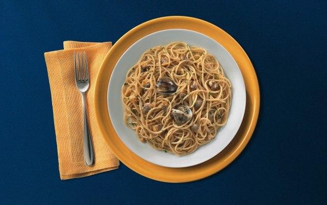 Foto Spaguetti con puerros y almejas