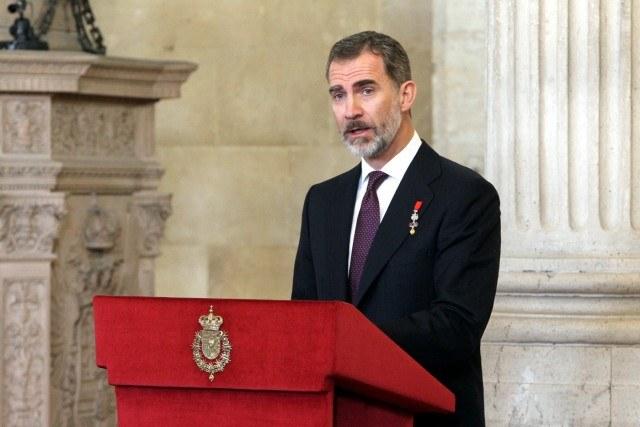 Foto Felipe VI durante su intervención el día de la imposición del Toisón de Oro a su hija, la princesa Leonor