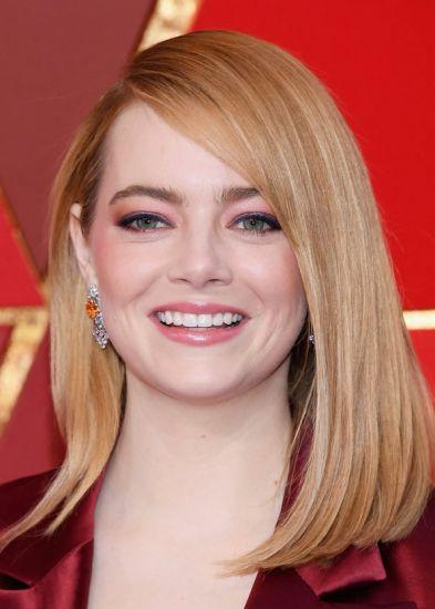 Foto El liso perfecto de Emma Stone para los Oscar 2018