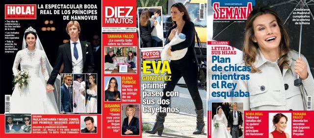 La boda de los Príncipes de Hannover, Eva González y la reina Letizia, portada de revistas