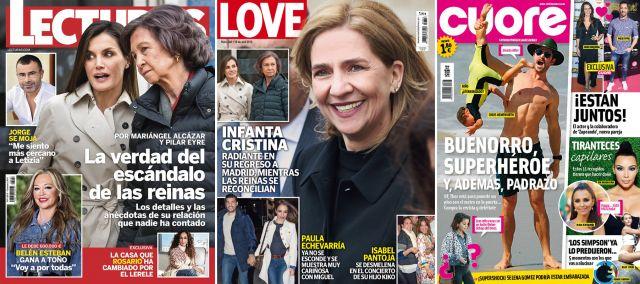 Foto La reina Letizia y la reina Sofía, la infanta Cristina y Chris Hemsworth, portada de revistas