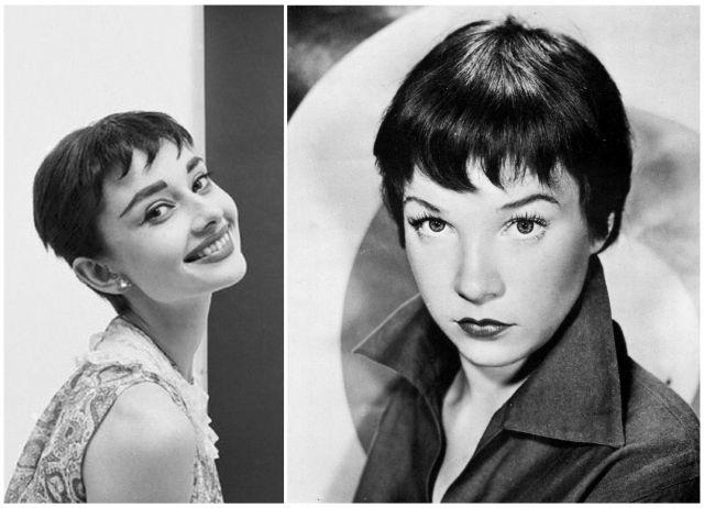 Foto Audrey Hepburn y Shirley MacLaine lucen flequillos baby bangs