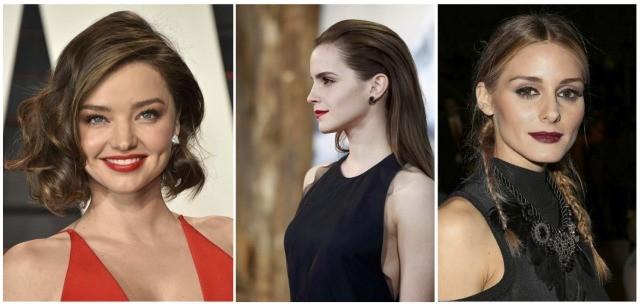 Foto Miranda Kerr, Emma Watson y Olivia Palermo lucen fake bob, wet look y coleta francesa