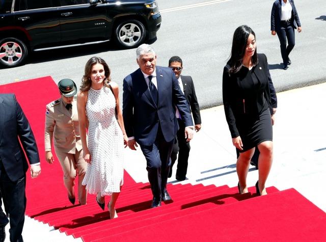 Foto La reina Letizia brilla a su llegada al Palacio Presidencial en Santo Domingo