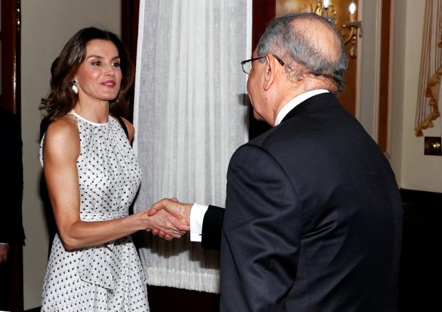 Foto La reina Letizia, radiante, recibe el saludo de Danilo Medina en Santo Domingo