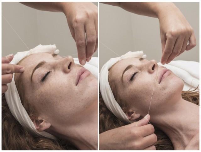 Foto Depilación con hilo en cejas y labio superior
