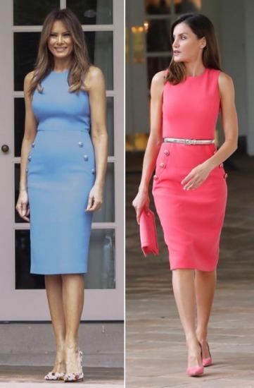 Foto Letizia Ortiz vs. Melania Trump ¿a quién le queda mejor el vestido de Michael Kors