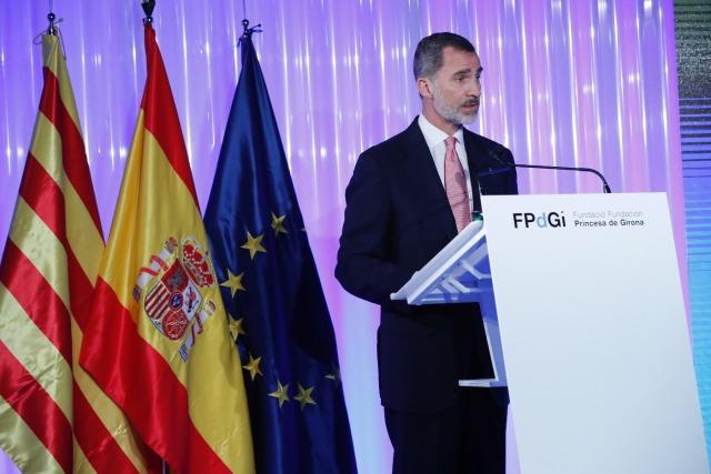 Foto Felipe VI reivindica de nuevo la unidad de España en los Premios Princesa de Girona 2018
