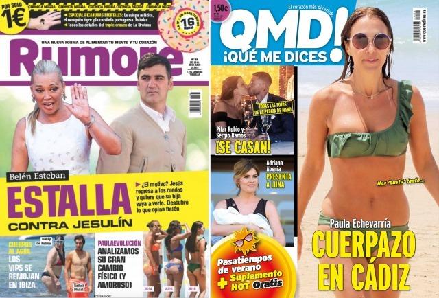 Foto Belén Esteban y Paula Echevarría, portada de revistas