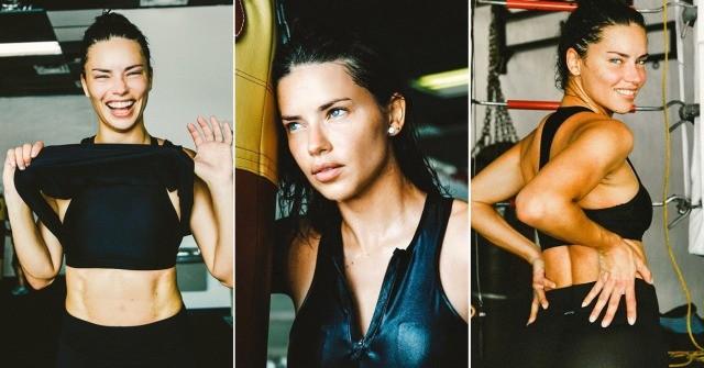 Foto Adriana Lima sabe cómo conseguir su selfie perfecto en el gimnasio