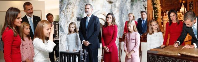 Foto Los Reyes junto a sus hijas en su visita a Covadonga el 8 de septiembre de 2018