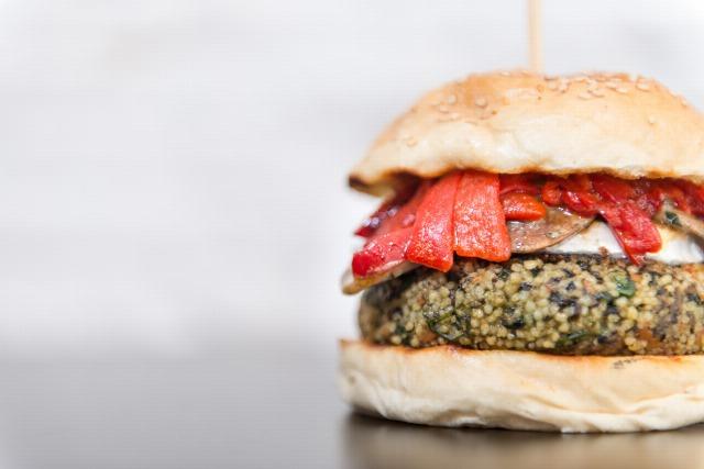 Foto Hamburguesa vegana