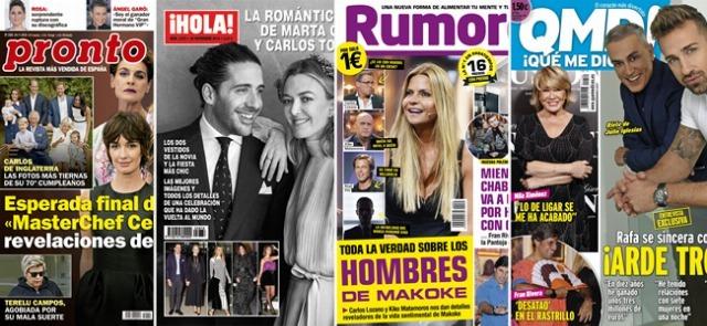 Foto Las portadas de las revistas del corazón a 19/11/2018