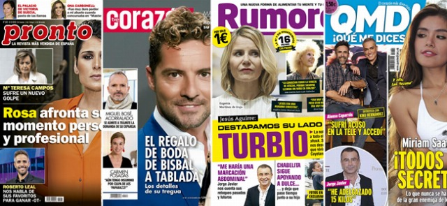 Foto Las portadas de las revistas del corazón a 03/12/2018