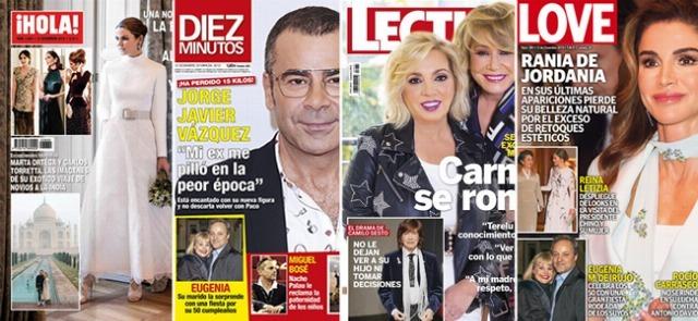 Las portadas de las revistas del corazón a 05/12/2018