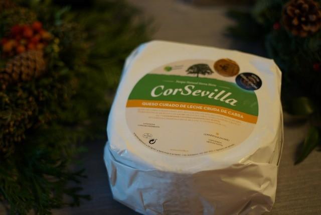 Foto CorSevilla, queso curado de leche cruda de cabra