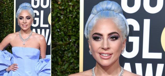 Foto El azul lavanda de Lady Gaga triunfa en los Globos de Oro