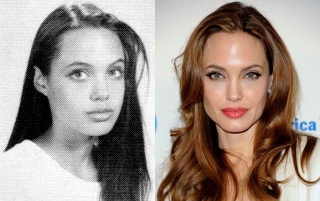 Foto El antes y el después de Angelina Jolie