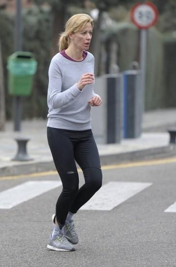 Foto Susanna Griso sin maquillaje corre por las calles de Madrid