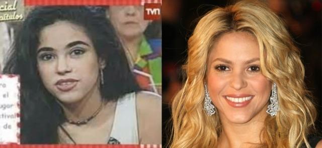 Foto El antes y después de Shakira