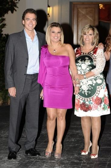 Foto Terelu Campos con su novio Carlos Pombo y su madre María Teresa Campos