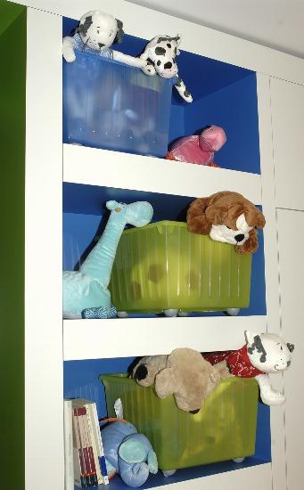 Foto Las estanterías y las cestas o recipientes de almacenaje, imprescindibles en las habitaciones infantiles